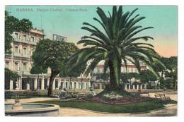 LA HABANA (CUBA). PARQUE CENTRAL. CIRCULADA EN 1913. - Autres