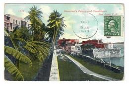 SAN JUAN (PUERTO RICO). PALACIO DEL GOBERNADOR Y CASABLANCA. CIRCULADA EN 1913. - Autres