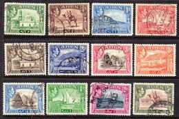 ADEN - 1939 KGVI DEFINITIVE SET TO 5R USED (12V) SG 16-26 - Aden (1854-1963)
