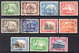 ADEN - 1939 KGVI DEFINITIVE SET TO 2R USED (11V) SG 16-25 - Aden (1854-1963)