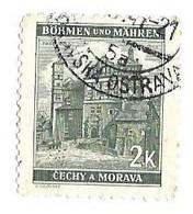BOHEME MORAVIE PARDUBICE - TIMBRE DE 1940 OBLITERATION RONDE OSTRAVA 1941, VOIR LE SCANNER - Gebraucht