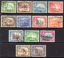 ADEN - 1939 KGVI DEFINITIVE COMPLETE SET TO 10R FINE USED (13V) SG 16-27 - Aden (1854-1963)