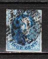 7 Ou 11  Médaillon Non Dentelé - Margé - Oblit. P73 LIEGE - LOOK!!!! - 1851-1857 Médaillons (6/8)