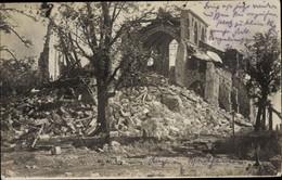 Photo CPA Montfaucon Aisne, L'Eglise, Ruine, Kriegszerstörungen, I. WK - Autres Communes