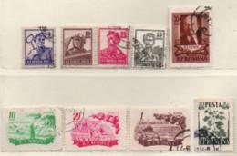 Rumänien 1955 Siehe Bild/Beschreibung 9 Marken Gestempelt; Romania Used - Gebraucht