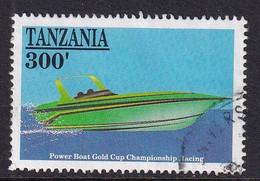 Tanzania 1991, Power Boat, Racing, Minr 821 Vfu. Cv 3 Euro - Tanzania (1964-...)