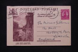 AFRIQUE DU SUD - Entier Postal Illustré, De  Port Elisabeth Pour Le Royaume Uni En 1950 Avec Cachet De Taxe - L 108768 - Covers & Documents