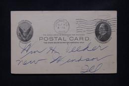 ETATS UNIS - Entier Postal Avec Repiquage Commercial De Chicago En 1906 Pour New Windson - L 108774 - 1901-20