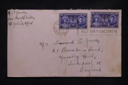 TERRE NEUVE - Enveloppe De St John's Pour Liverpool En 1949, Affranchissement Surchargés - L 108777 - 1908-1947
