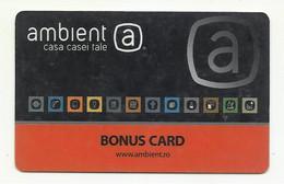 """Romania, """"Ambient"""" Bonus Card. - Gift Cards"""
