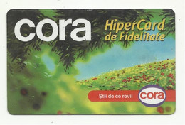 "Romania, Cluj, ""Cora"" Fidelity Hiper Card. - Gift Cards"