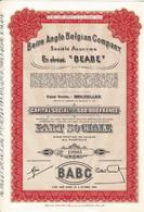 "Titre Ancien - Beira Anglo Belgian Company - ""BEABE""  - Titre De 1951 - - Industrie"