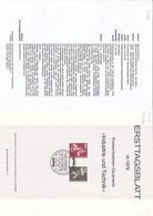 """Deutschland BRD. Ersttagsblatt 14/1979 """"Industrie Und Technik"""" (7.024) - Brieven En Documenten"""