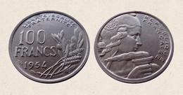 !!! FRANCIA 100 FRANCHI 1954 !!! - N. 100 Francs
