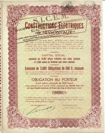 Titre Ancien  - Constructions Electriques De Nessonvaux (devenue SICEM) - Obligation De 1932 - Industrie
