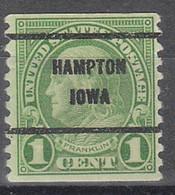 USA Precancel Vorausentwertungen Preos, Bureau Iowa, Hampton 597-61 - Voorafgestempeld