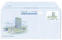 SP UNITED NATIONS AIRMAIL AEROGRAMME NEUF HEADQUARTERS 1989 - Briefe U. Dokumente