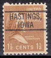 USA Precancel Vorausentwertungen Preos, Locals Iowa, Hastings 802 - Voorafgestempeld