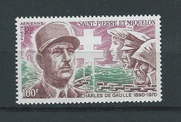 SAINT-PIERRE ET MIQUELON    Timbre Poste Aérienne  N° 54  Neufs  Général De GAULLE - Other