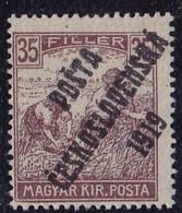 25913# TCHECOSLOVAQUIE Timbre HONGROIE SURCHARGE POSTA CESKOSLOVENSKA 1919 N° 85 * - Unused Stamps