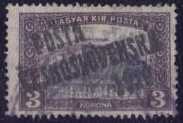 25914# TCHECOSLOVAQUIE Timbre HONGROIE SURCHARGE POSTA CESKOSLOVENSKA 1919 N° 92 Oblitéré - Used Stamps