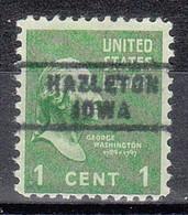 USA Precancel Vorausentwertungen Preos, Locals Iowa, Hazelton 743 - Voorafgestempeld