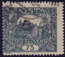 25915# TCHECOSLOVAQUIE VUE DU HRADCANY CHÂTEAU DE PRAGUE N° 18 DENTELE Oblitéré - Used Stamps