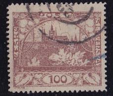 25916# TCHECOSLOVAQUIE VUE DU HRADCANY CHÂTEAU DE PRAGUE N° 20 DENTELE Oblitéré - Used Stamps