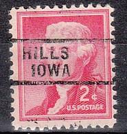 USA Precancel Vorausentwertungen Preos, Locals Iowa, Hills 729 - Voorafgestempeld