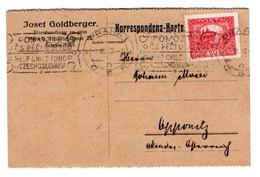 Korrespondenz - Karte - 6. VII. 1920 - ŘZ 133/4 Type II - Machine Stamp Help Child Fund Czechoslovakia - Covers & Documents