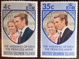 British Solomon Islands 1973 Royal Wedding MNH - British Solomon Islands (...-1978)