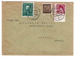 Letter Beroun - 16. VII. 1938 - Plate Number !!!!! - Covers & Documents