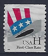 USA  1998  Uncle Sams Hat (o) Mi.3059  C - Used Stamps
