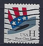 USA  1998  Uncle Sams Hat (o) Mi.3060  BDl - Used Stamps