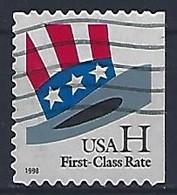 USA  1998  Uncle Sams Hat (o) Mi.3060  BDr - Used Stamps