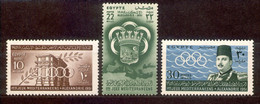 Ägypten Egypt 1951 - Michel Nr. 352 - 354 * - Unused Stamps