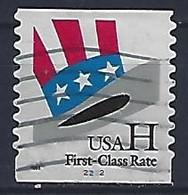 USA  1998  Uncle Sams Hat (o) Mi.3060  BG  (Pl. Nr. 2222) - Gebraucht