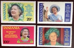 Tanzania 1985 Queen Mother MNH - Tanzania (1964-...)