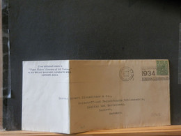95/496  LETTRE ENGLAND 1934 TO GERMANY - Covers & Documents