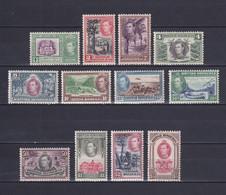 BRITISH HONDURAS 1938/47, SG# 150-161, CV £190, KGVI, Trees, Nature, MNH/MLH - Honduras Britannico (...-1970)