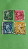 ETATS-UNIS - U.S.A. - Lot De 4 Timbres 1914 : Histoire - George WASHINGTON, 1er Président Des Etats-Unis - Used Stamps