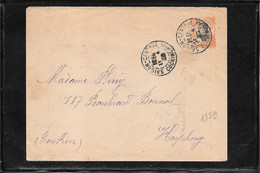 Indochine 1923, Postal Stationery From Saigon To Haiphong ( Ref 2372) - Storia Postale