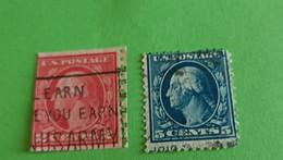 ETATS-UNIS - U.S.A. - 2 Timbres 1914 : Histoire - George WASHINGTON, 1er Président Des Etats-Unis - Used Stamps