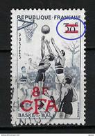 """FRANCE Réunion 1955: Le Y&T 326 Obl. CAD, Var. """"traits Blancs Dans Les Barres D'annulation De La Valeur"""" - Oblitérés"""