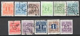 Danimarca 1921 Segnatasse Unif.9/18 O/Used VF/F - Portomarken