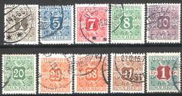 Danimarca 1914 Giornali Unif.11/20 O/Used VF/F - Dienstpost