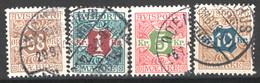 Danimarca 1907 Giornali Unif.7/10 O/Used VF/F - Dienstpost