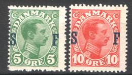 Danimarca 1917 Servizio Unif.20/21 */MH VF/F - Dienstpost