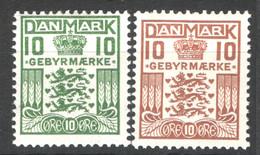 Danimarca 1926 Segnatasse Unif.20/21 */MH VF/F - Portomarken