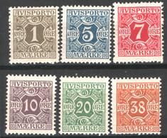 Danimarca 1907 Giornali Unif.1/6 */MH VF/F - Dienstpost